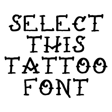 Rats Get Fat Tattoo Font
