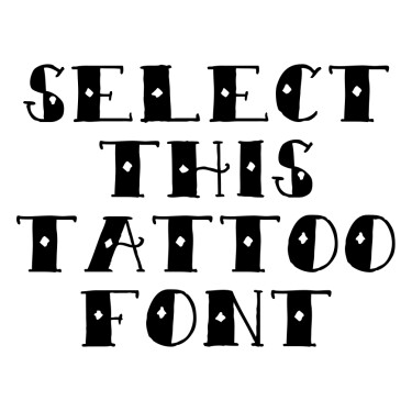 Sailor Scrawl Tattoo Font