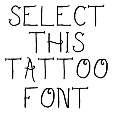 Sailors Delight Tattoo Font