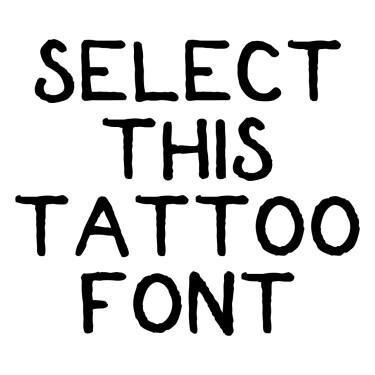 Shipmates Tattoo Font