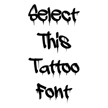Adrip Tattoo Font
