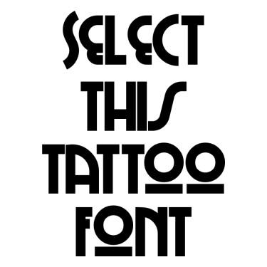 CHI TOWN Tattoo Font