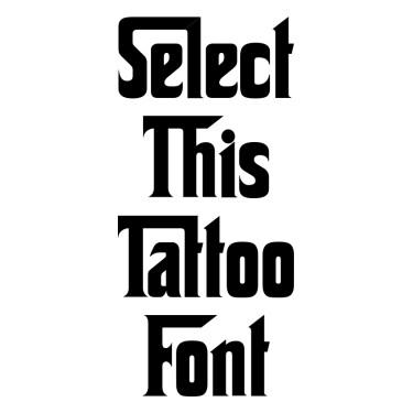 Corleone Tattoo Font