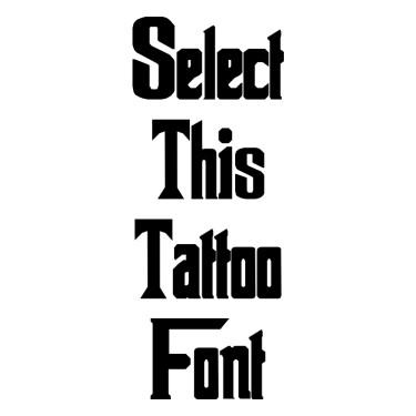 The Godfather Tattoo Font