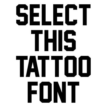 Jersey M54 Tattoo Font