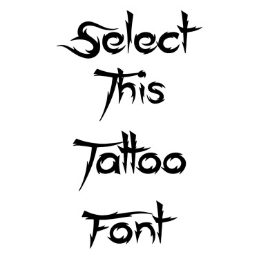 Ace Records Tattoo Font