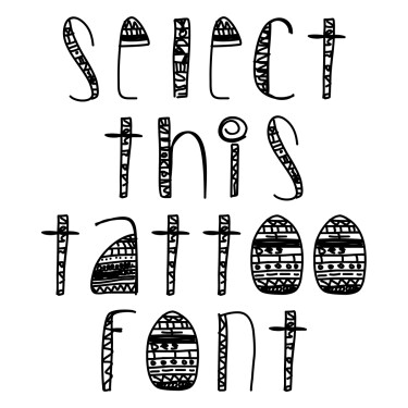 Des Tribal Tattoo Font