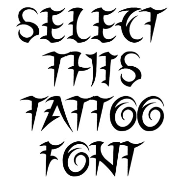 League Of Ages Tattoo Font