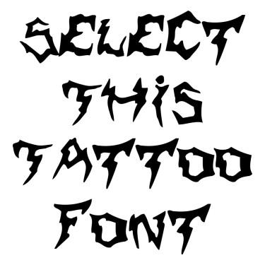Shaman Tattoo Font