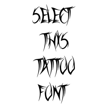 Sword Thrasher Tattoo Font