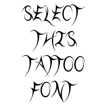 Threadz Needle Tattoo Font