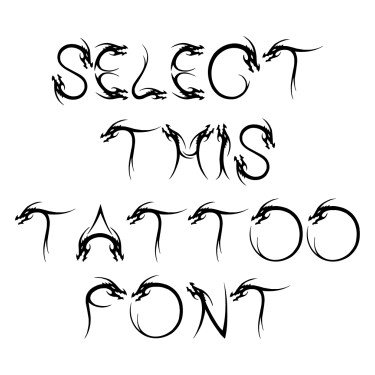 Tribal Dragon Tattoo Font