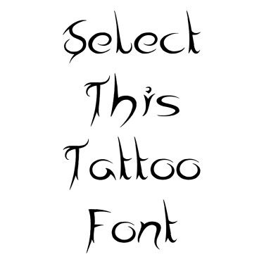 Tribal Times Tattoo Font