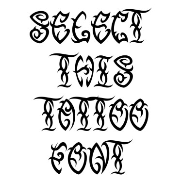 Tribal Three Tattoo Font