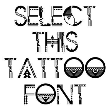 ZILAP GEOMETRIK Tattoo Font