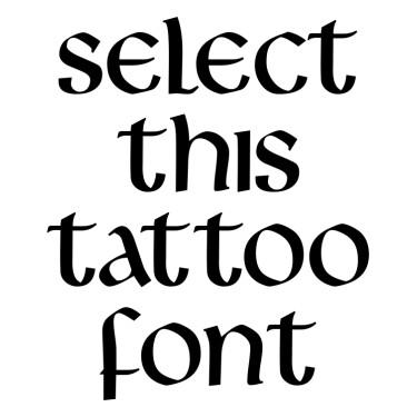 Livingst Tattoo Font