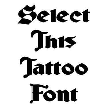Ludlow Strong Ale Tattoo Font