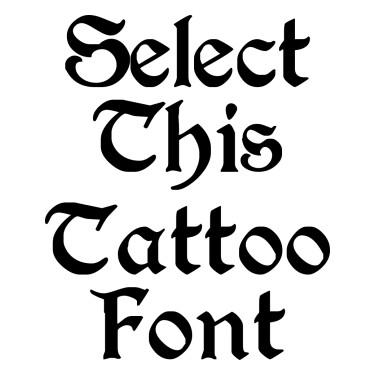 PERRYGOT Tattoo Font