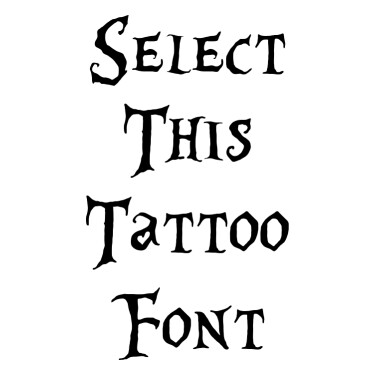 Alice In Wonderland Tattoo Font
