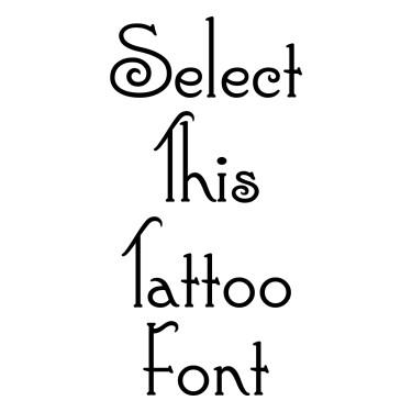 Connie Regular Tattoo Font
