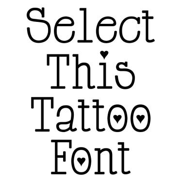 Cupidde Locke Tattoo Font
