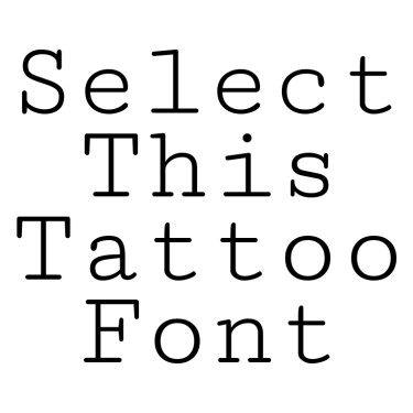CutiveMono Tattoo Font