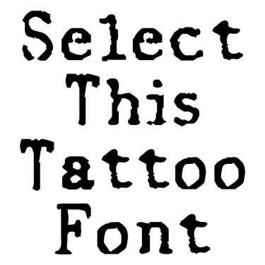 OldReport Tattoo Font