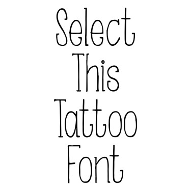 Somebody That I Used To Know Tattoo Font