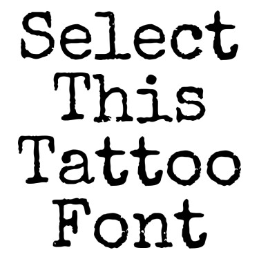 Special Elite Tattoo Font