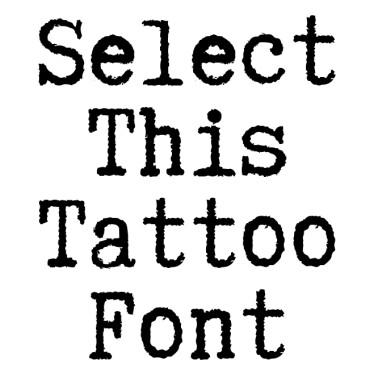 TTWPGOTT Tattoo Font