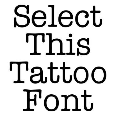 TYPEWR Tattoo Font