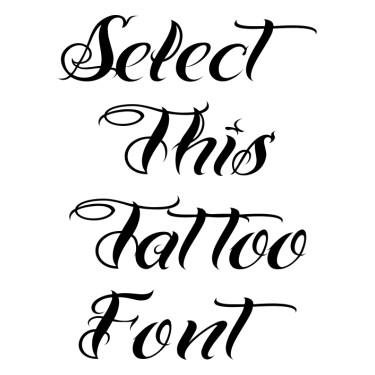 Bad Tattoo Hand One Tattoo Font