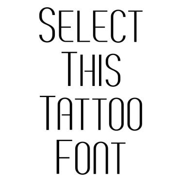 BREVE2 Tattoo Font