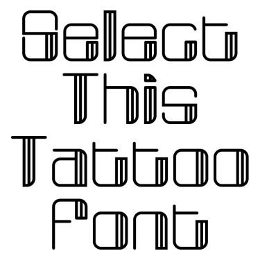 Broadway Tattoo Font
