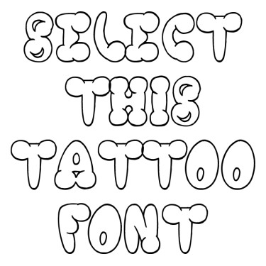 Chooka Zoon Tattoo Font