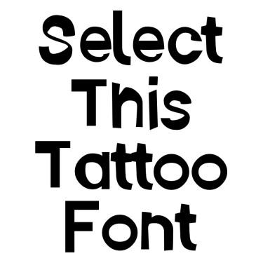 Ember Tattoo Font