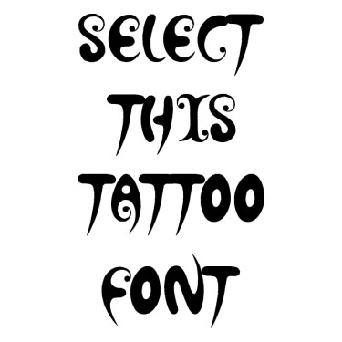 Hot Chocolate Latte Tattoo Font