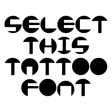 I Love Circle Tattoo Font