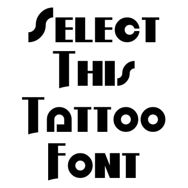 Order In Chaos Tattoo Font