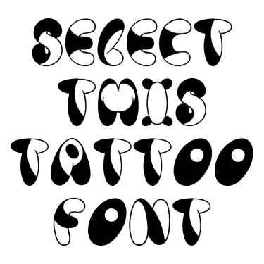 Panda Spots Tattoo Font