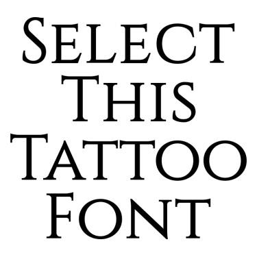 Constantine Tattoo Font