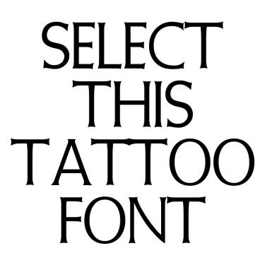 Initialen Tattoo Font