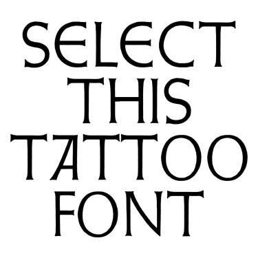 Lapidar Tattoo Font