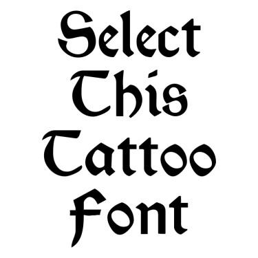 Morris RomanBlack Tattoo Font