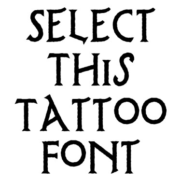 Possum Saltare Tattoo Font