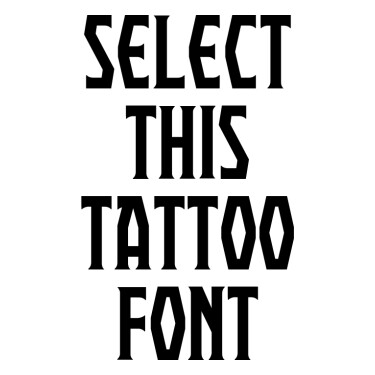 PRAEBRG Tattoo Font