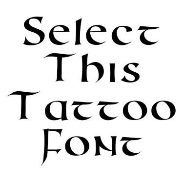 Roman Uncial Modern Tattoo Font