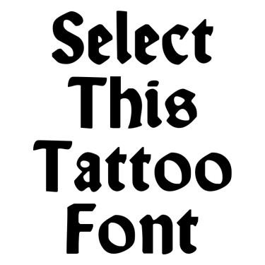 Wallau Unzial Bold Tattoo Font