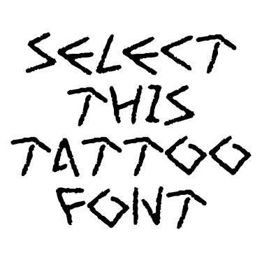 Art Greco Tattoo Font