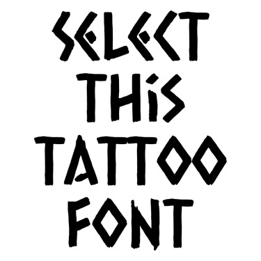 Caesar Dressing Regular Tattoo Font